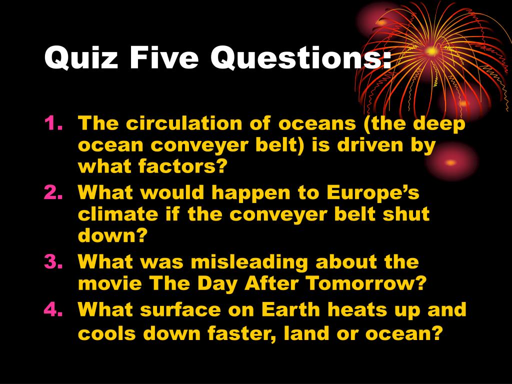 Quiz Five Questions: