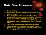 quiz one answers