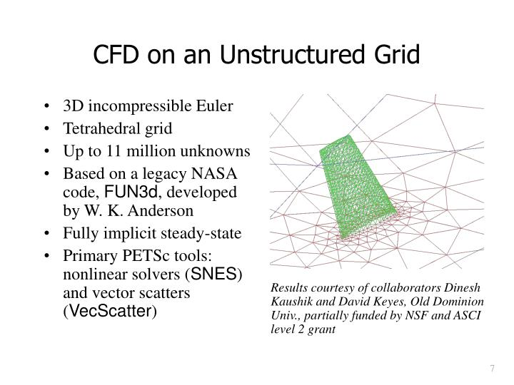 CFD on an Unstructured Grid