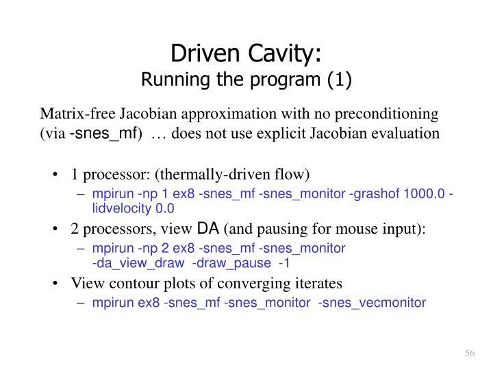 Driven Cavity: