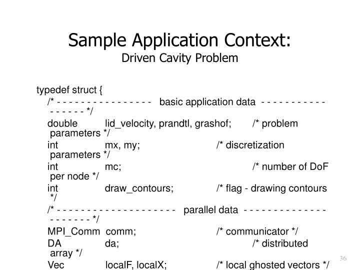 Sample Application Context: