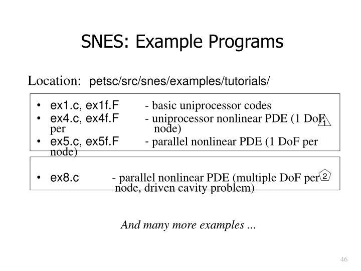 SNES: Example Programs