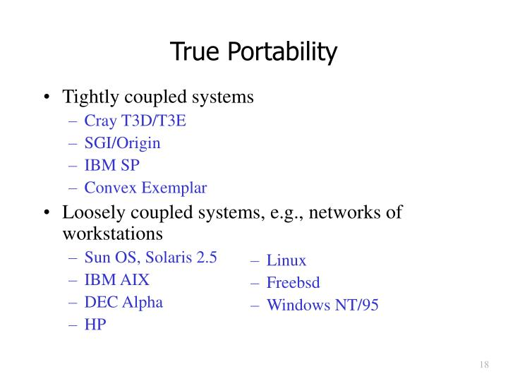 True Portability