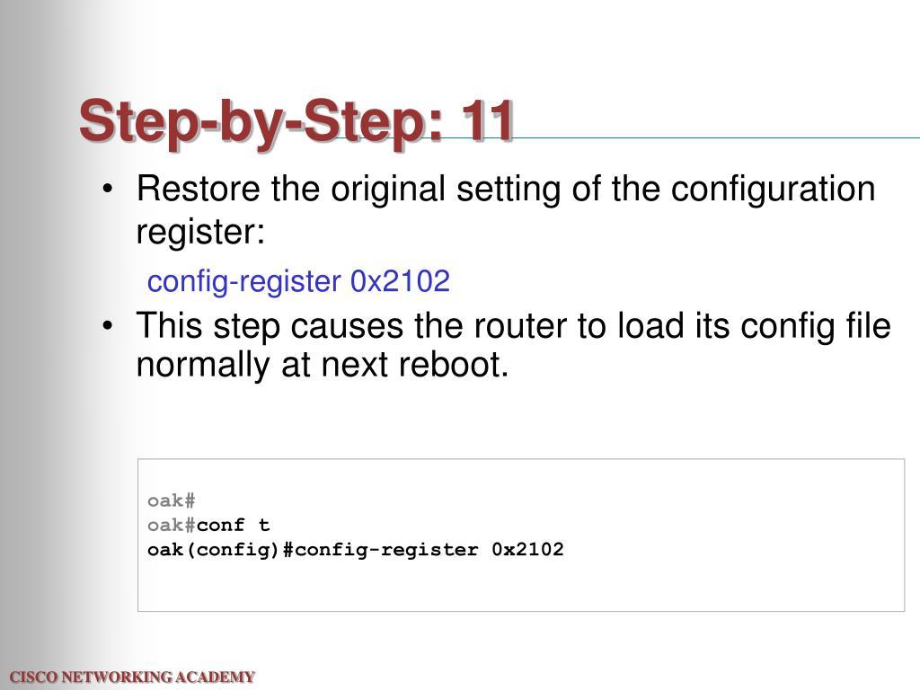 Step-by-Step: 11