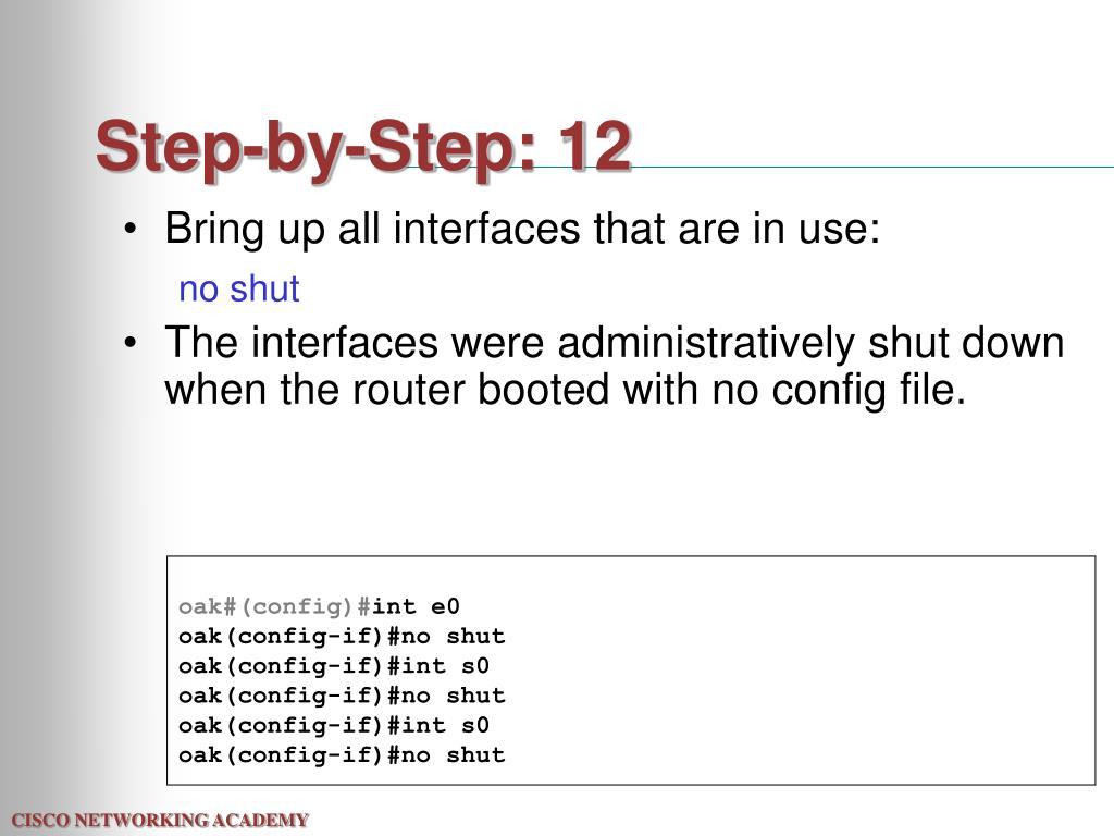 Step-by-Step: 12