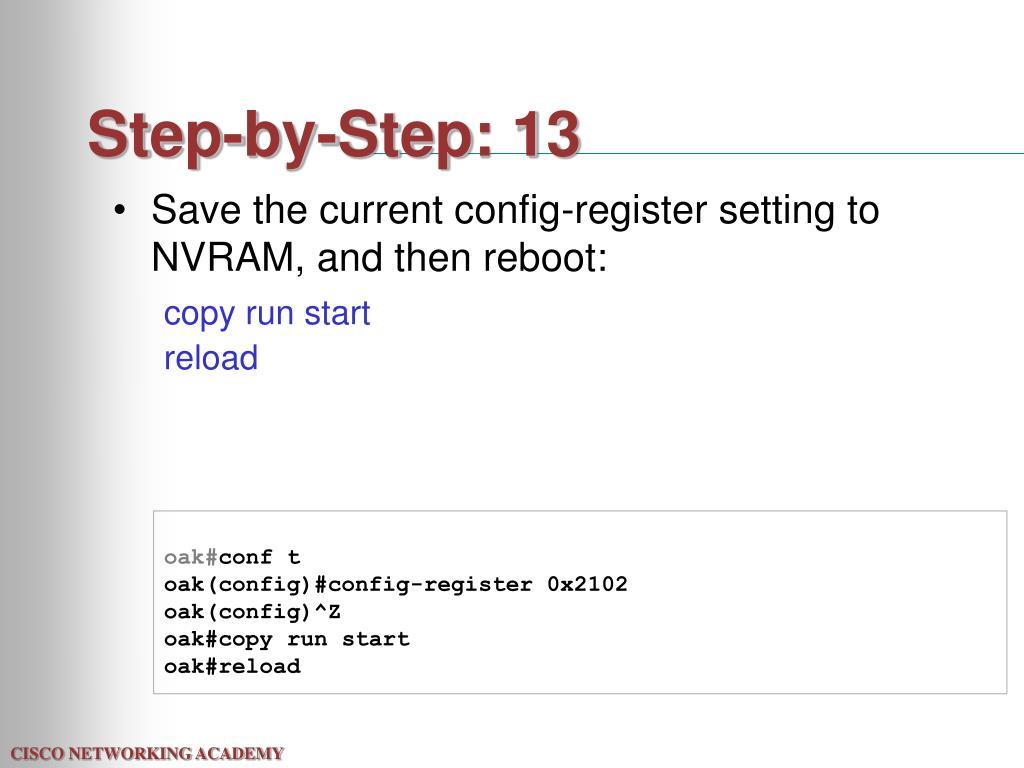 Step-by-Step: 13