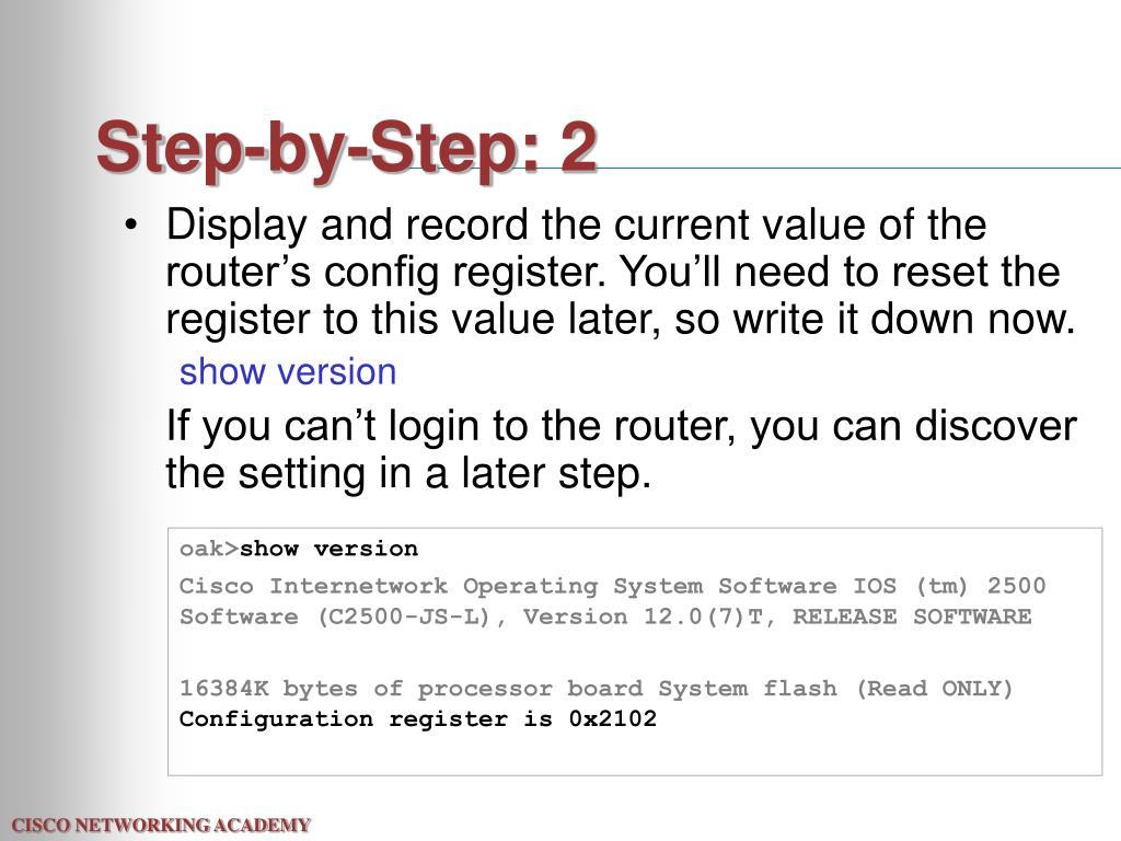 Step-by-Step: 2