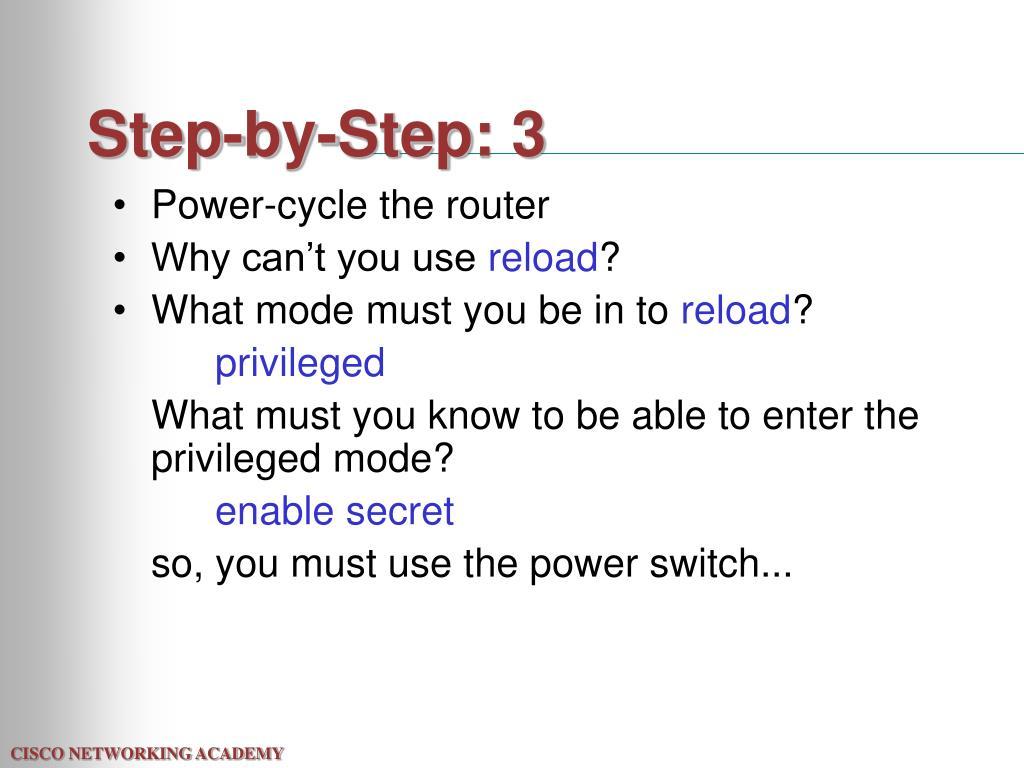 Step-by-Step: 3