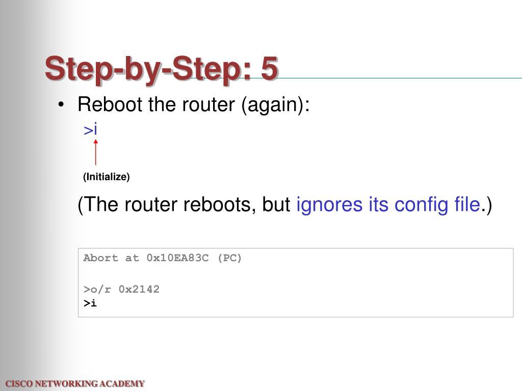 Step-by-Step: 5