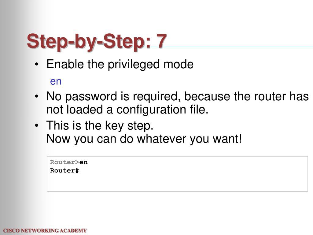Step-by-Step: 7