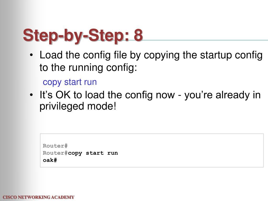 Step-by-Step: 8
