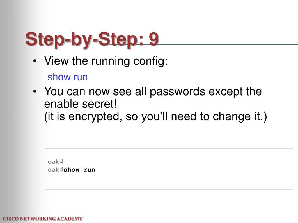 Step-by-Step: 9