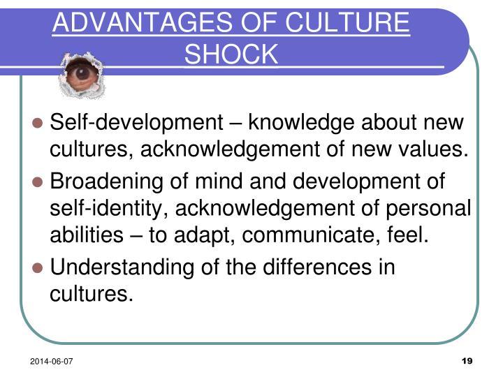 ADVANTAGES OF CULTURE SHOCK