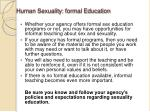 human sexuality formal education1