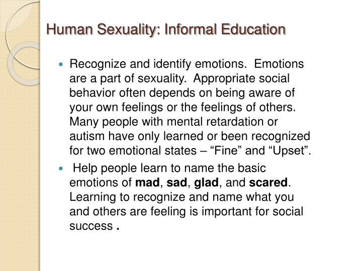 Human Sexuality: Informal Education
