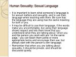 human sexuality sexual language1