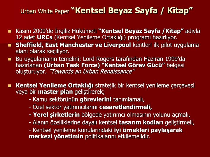 Urban White Paper