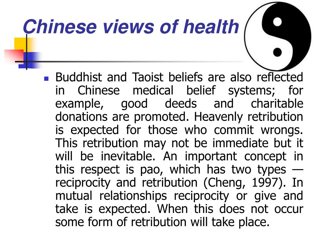 Chinese views of health