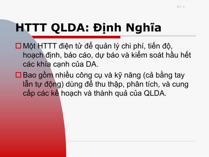 HTTT QLDA: Định Nghĩa