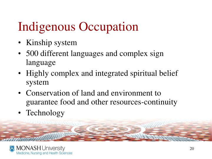Indigenous Occupation