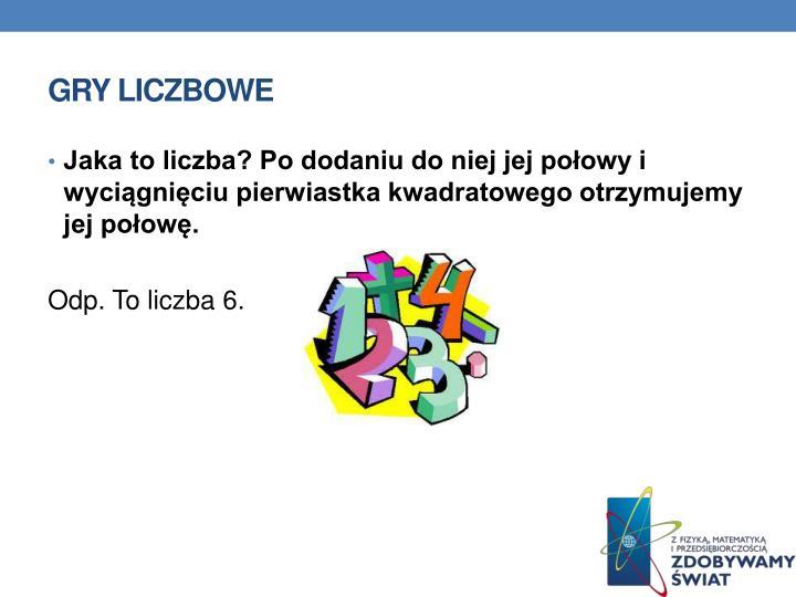 GRY LICZBOWE