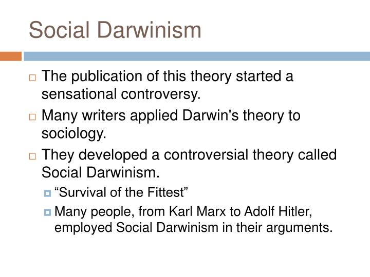 a discussion of social darwinism Social darwinism in european and american thought  it clarifies the nature of social darwinism and its the study concludes with a discussion of modern.
