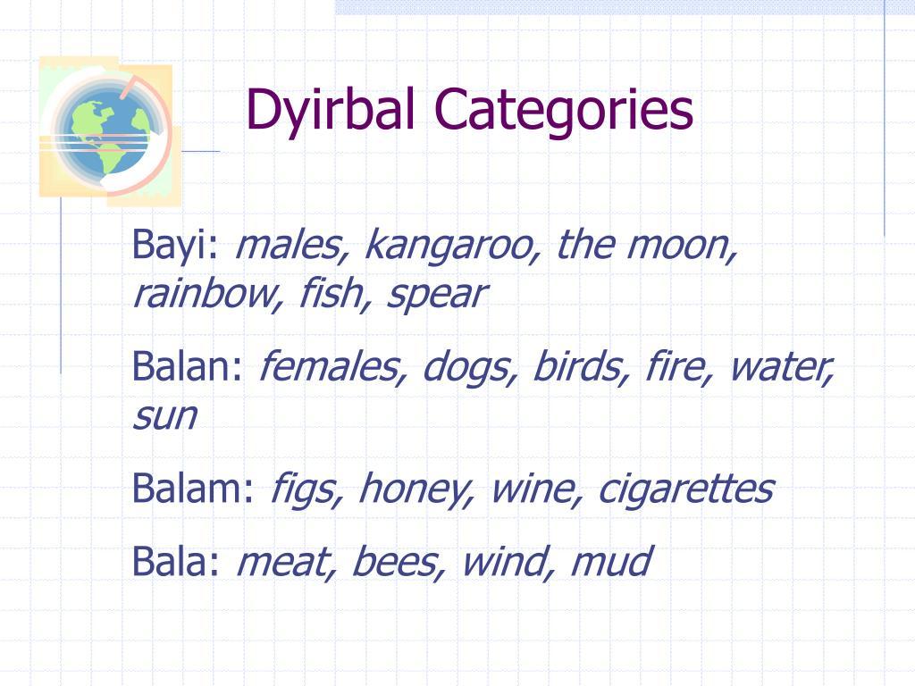 Dyirbal Categories