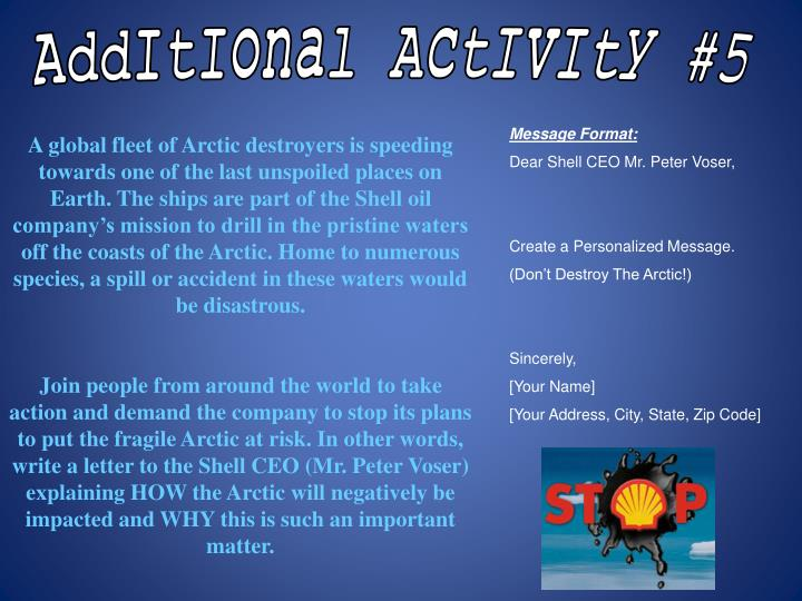 AddItIonal ActIvIty #5