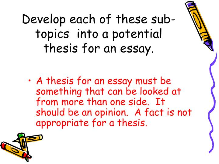 essay keyhole format