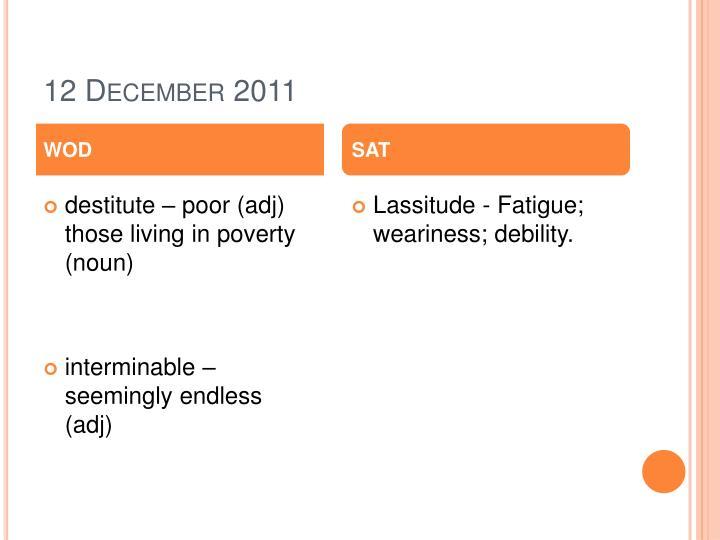 12 December 2011