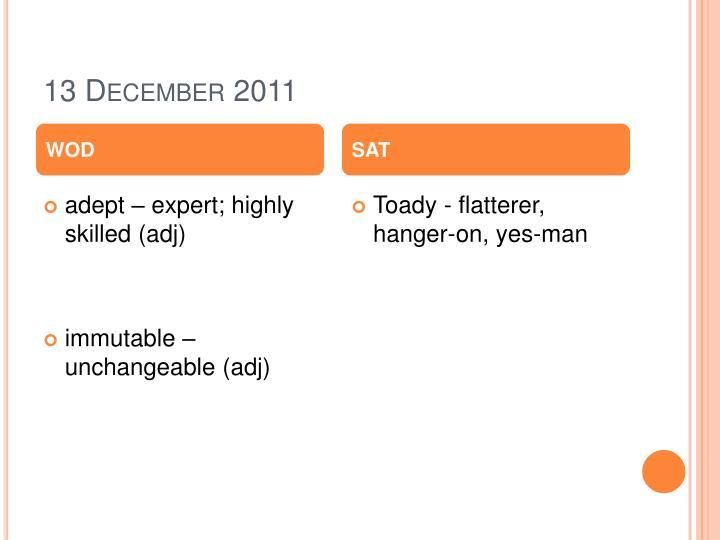 13 December 2011