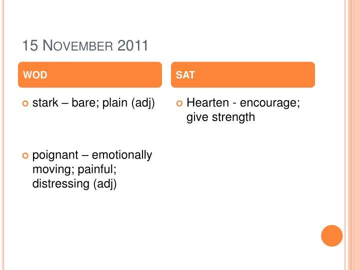 15 November 2011