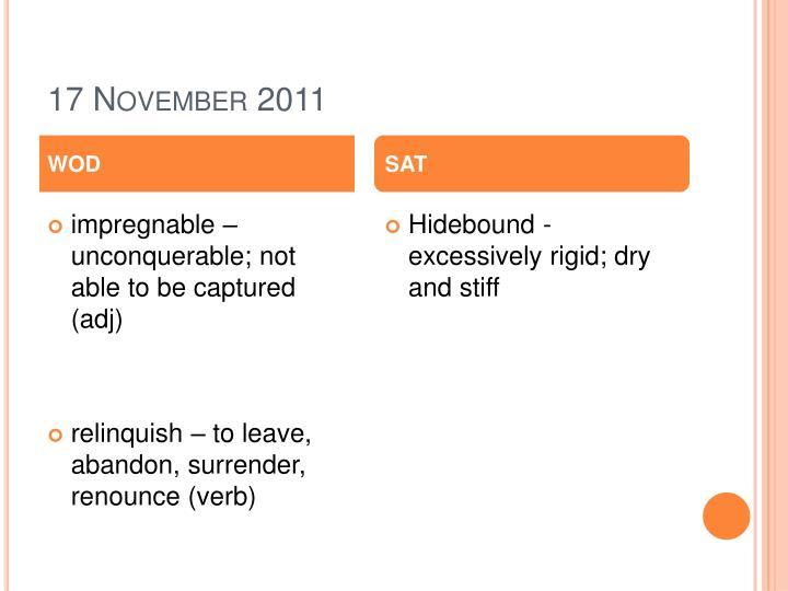 17 November 2011