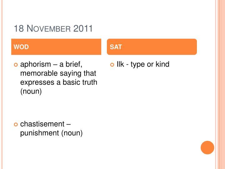 18 November 2011