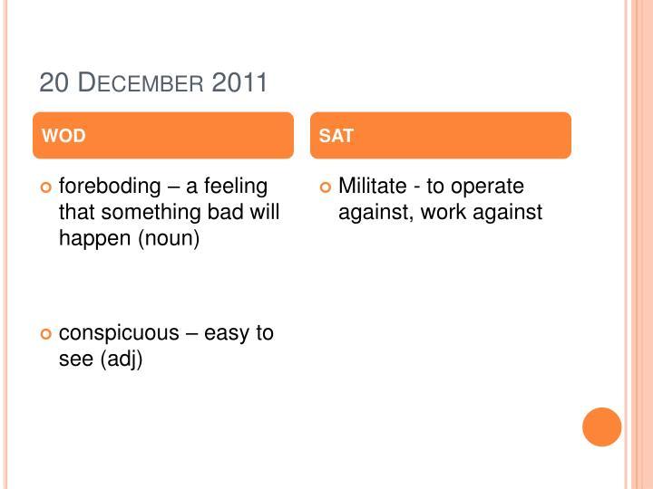 20 December 2011