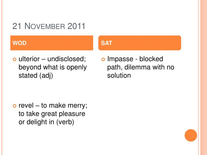 21 November 2011