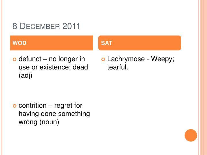 8 December 2011