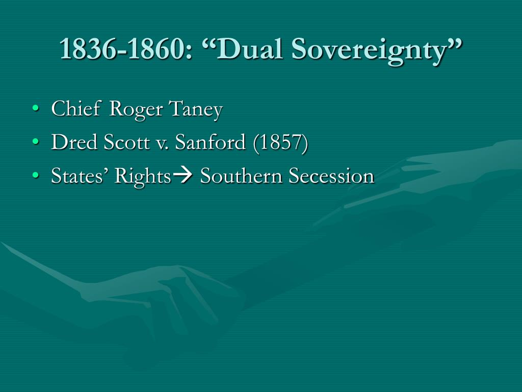 "1836-1860: ""Dual Sovereignty"""