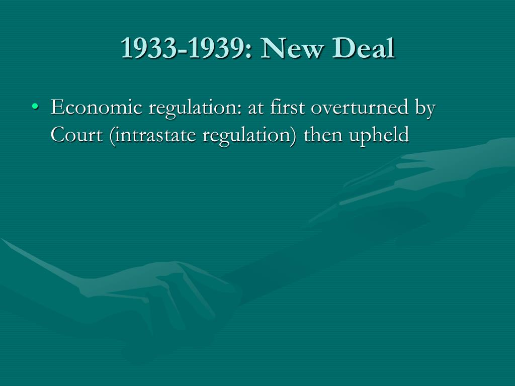 1933-1939: New Deal