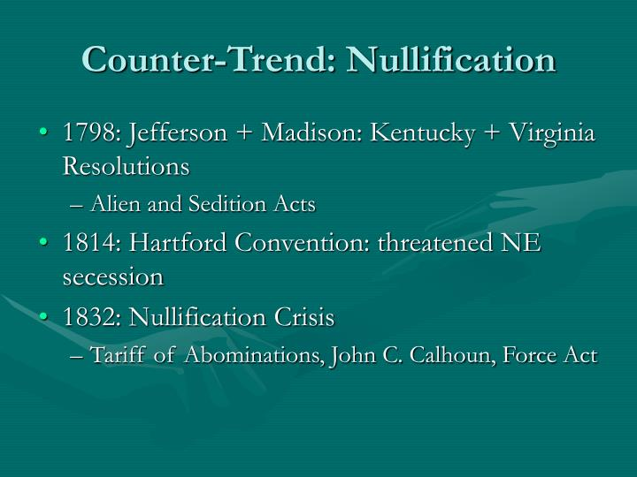 Counter trend nullification