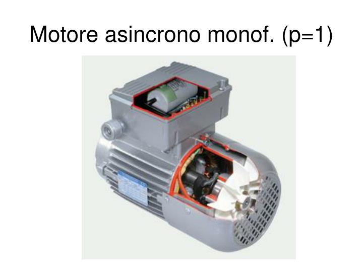 Motore asincrono monof. (p=1)