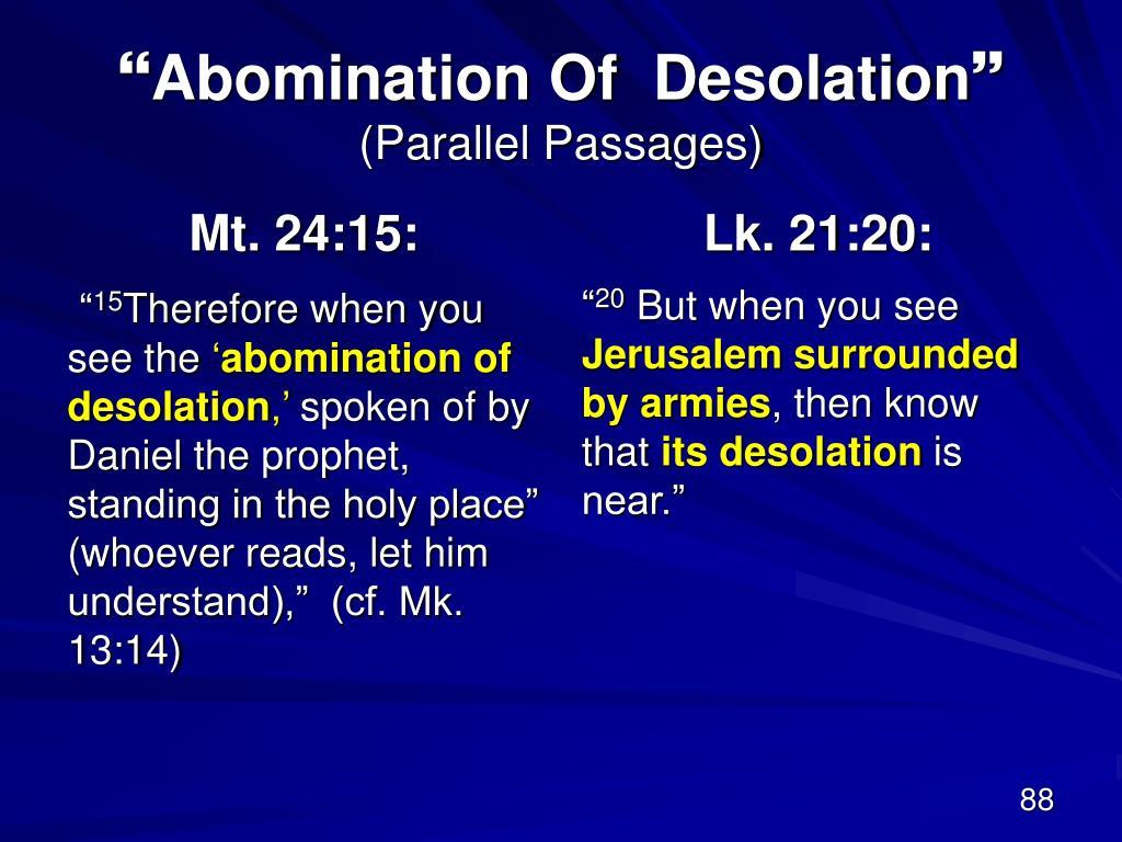 Mt. 24:15: