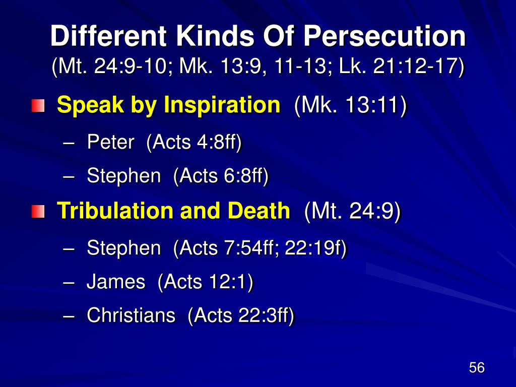 Different Kinds Of Persecution