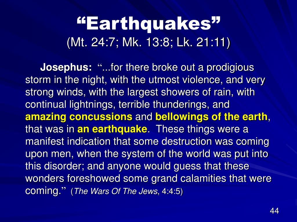 """Earthquakes"""