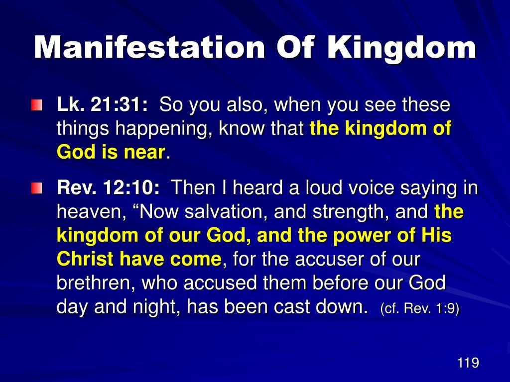 Manifestation Of Kingdom
