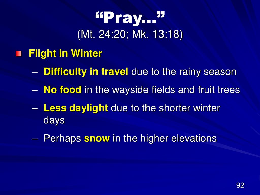 """Pray..."""