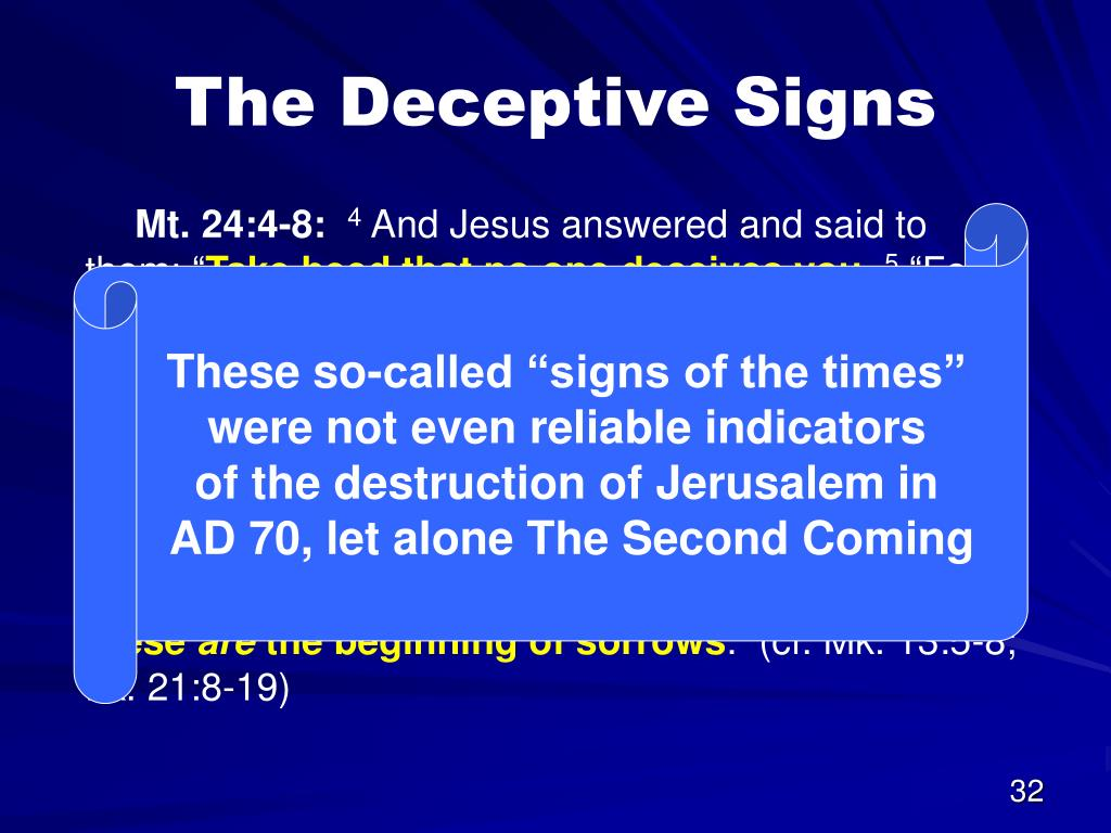 The Deceptive Signs