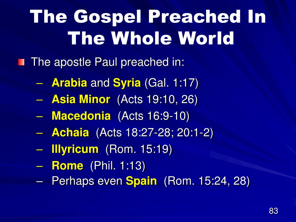 The Gospel Preached In