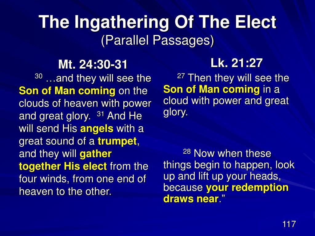 Mt. 24:30-31