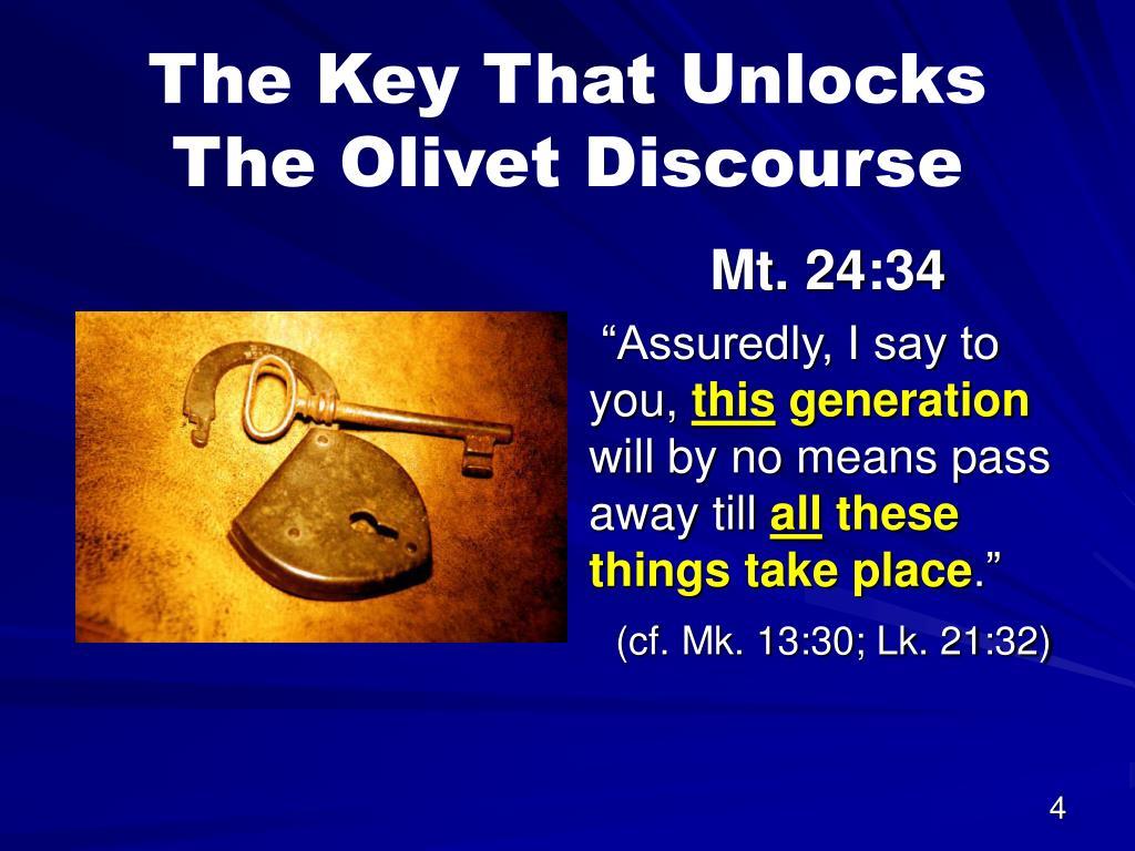 The Key That Unlocks The Olivet Discourse